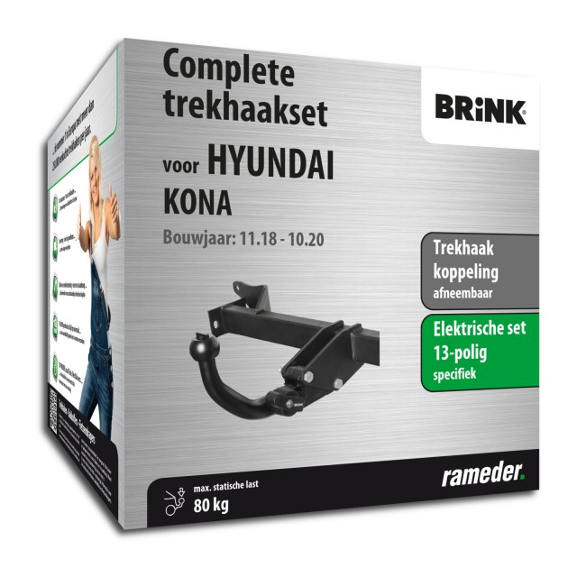 Brink Trekhaak afneembaar incl. elektrische set 13 polig specifiek
